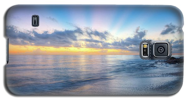 Galaxy S5 Case featuring the photograph Rays Over The Reef by Debra and Dave Vanderlaan