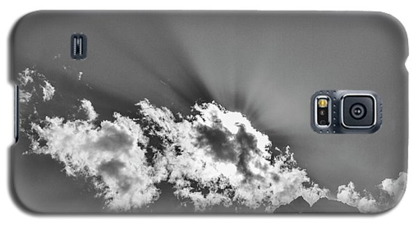 Galaxy S5 Case featuring the photograph Rays Through Clouds, Keylong, 2005 by Hitendra SINKAR