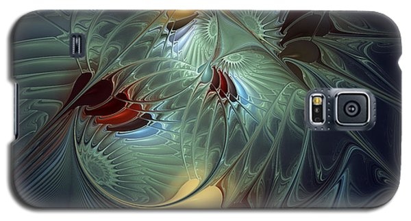 Galaxy S5 Case featuring the digital art Reach For The Moon by Karin Kuhlmann