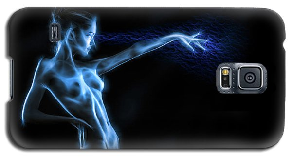 Galaxy S5 Case featuring the photograph Reaching Figure Darkness by Rikk Flohr