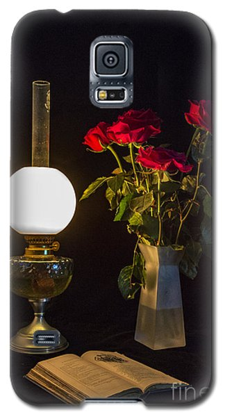 Galaxy S5 Case featuring the photograph Reading By Oil Lamp by Brian Roscorla
