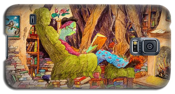 Galaxy S5 Case featuring the painting Reading Is Magic Pg 1 by Matt Konar