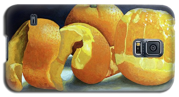 Galaxy S5 Case featuring the painting Ready For Oranges by Linda Apple