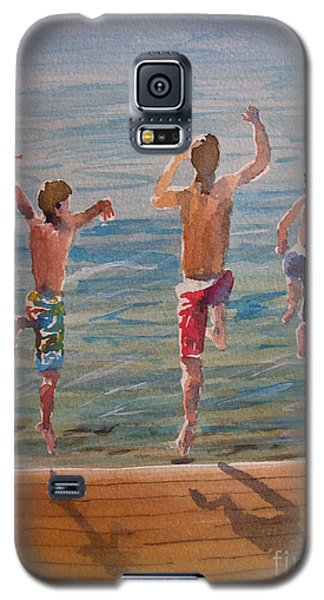 Galaxy S5 Case featuring the painting Ready Set Go by Sandra Strohschein