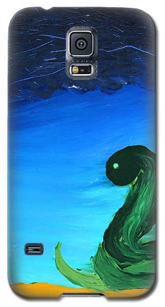 Galaxy S5 Case featuring the painting Ready To Strike by Lola Connelly