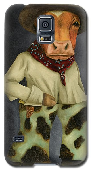 Galaxy S5 Case featuring the painting Real Cowboy 2 by Leah Saulnier The Painting Maniac
