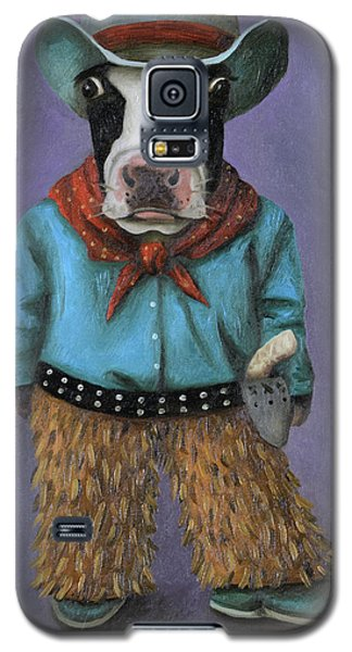 Galaxy S5 Case featuring the painting Real Cowboy by Leah Saulnier The Painting Maniac