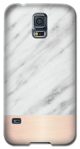 Real Italian Marble And Pink Galaxy S5 Case