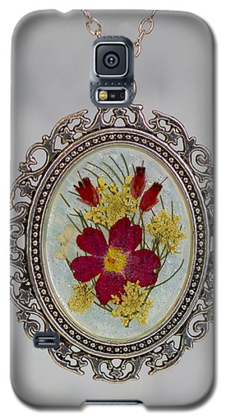 Real Pressed Verbena And Heather Blossoms Galaxy S5 Case