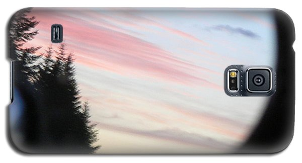 Rear View Sunset Sky Galaxy S5 Case by Pamela Patch