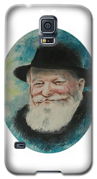 Galaxy S5 Case featuring the painting Rebbe Smiling by Miriam Leah