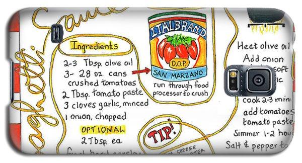 Recipe -spaghetti Sauce  Galaxy S5 Case