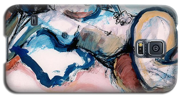 Reclining Multi-coloured Gestural Nude Galaxy S5 Case