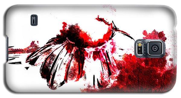 Decorative Galaxy S5 Case - Red -1 by Jacqueline Schreiber