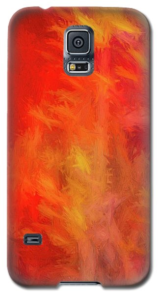 Red Abstract Galaxy S5 Case