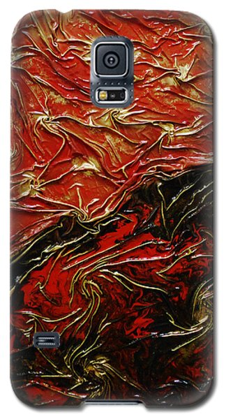 Red And Black Galaxy S5 Case by Angela Stout