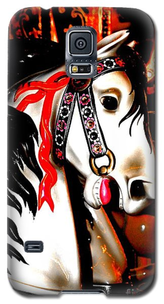 Red And Black Carousel Horse Galaxy S5 Case