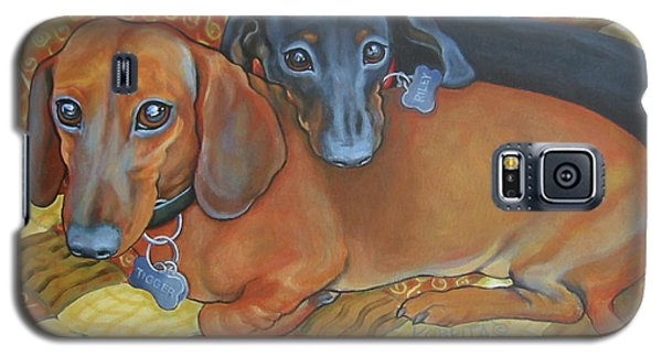Red And Black Dachshunds - Best Buds Galaxy S5 Case