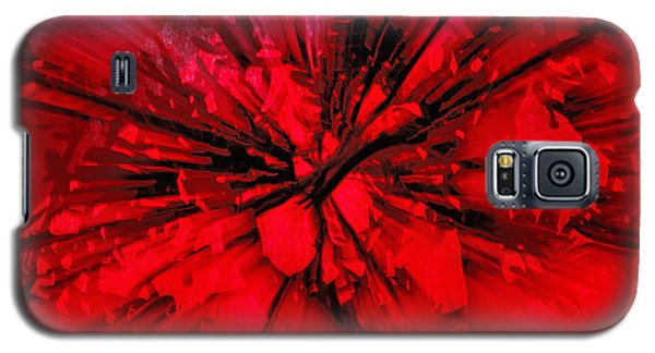 Galaxy S5 Case featuring the photograph Red And Black Explosion by Susan Capuano