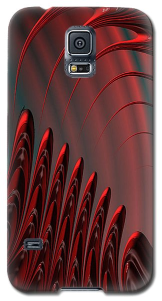 Red And Black Modern Fractal Design Galaxy S5 Case