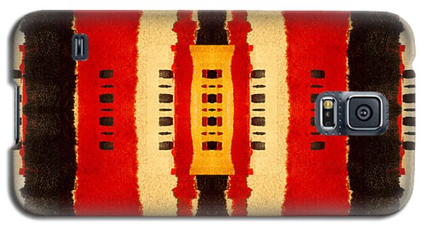Red And Black Panel Number 4 Galaxy S5 Case by Carol Leigh