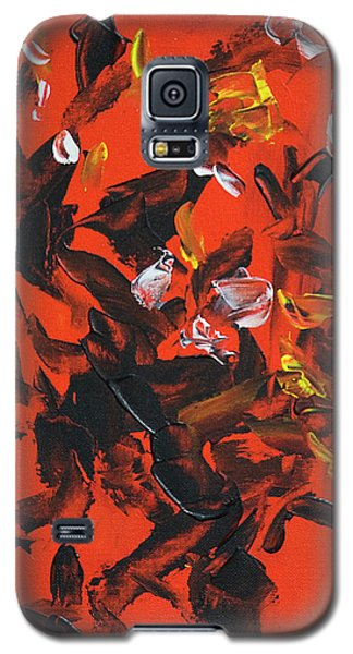 Red And Black Galaxy S5 Case by Yulia Kazansky