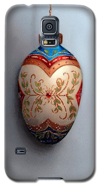 Red And Blue Filigree Egg Ornament Galaxy S5 Case