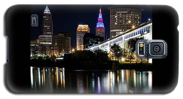 Galaxy S5 Case featuring the photograph Red And Blue In Cleveland by Dale Kincaid