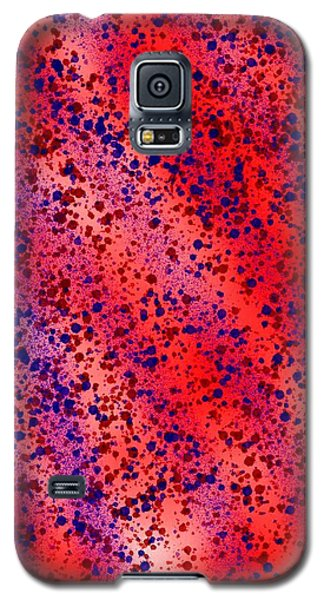 Red And Blue Splatter Abstract Galaxy S5 Case