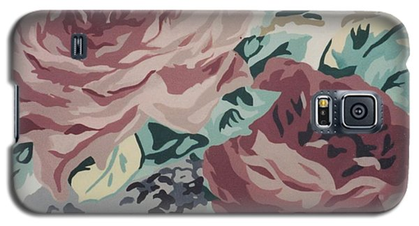 Red And Pink Flowers Galaxy S5 Case