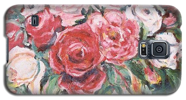 Red And White Roses Galaxy S5 Case