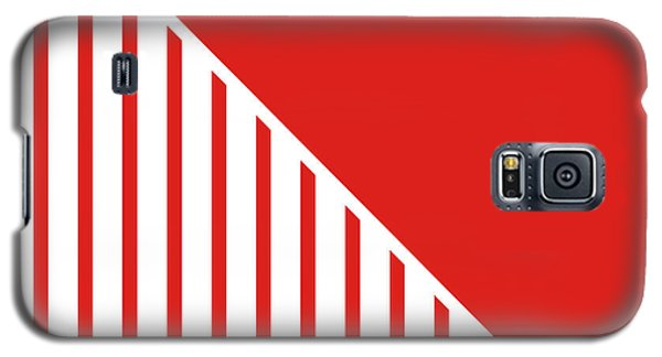 Red And White Triangles Galaxy S5 Case by Linda Woods