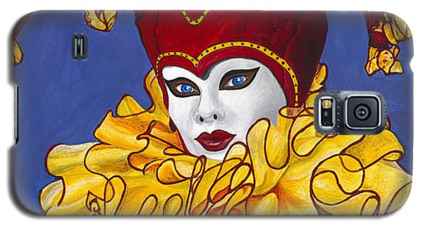 Red And Yellow Carnival Jester Galaxy S5 Case