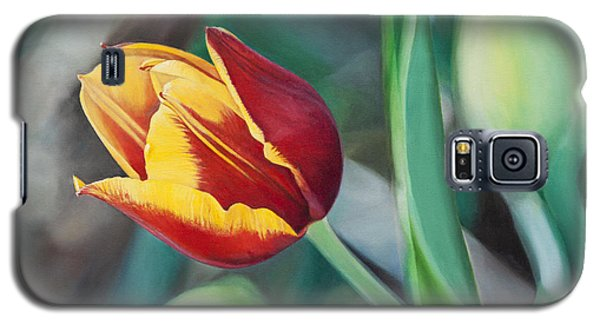 Galaxy S5 Case featuring the painting Red And Yellow Tulip by Joshua Martin
