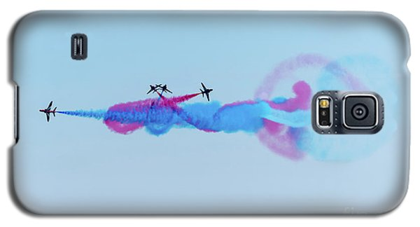 Galaxy S5 Case featuring the photograph Red Arrows Break by Gary Eason