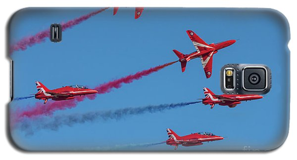 Galaxy S5 Case featuring the photograph Red Arrows Enid Break by Gary Eason