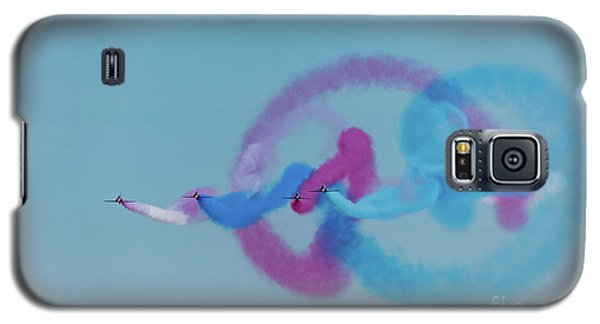 Galaxy S5 Case featuring the photograph Red Arrows Gypo Swirls by Gary Eason