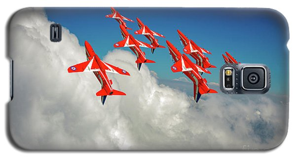 Galaxy S5 Case featuring the photograph Red Arrows Sky High by Gary Eason