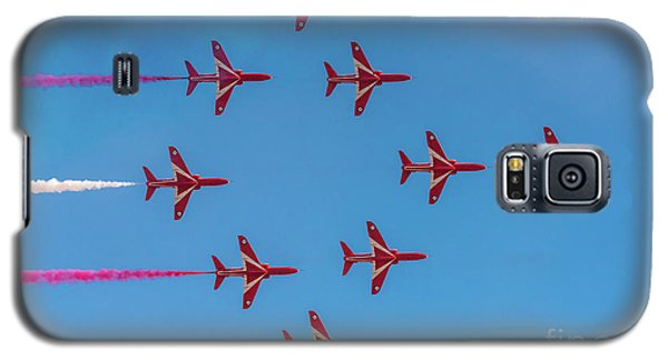 Galaxy S5 Case featuring the photograph Red Arrows Typhoon Formation by Gary Eason