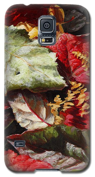Red Autumn - Wasilla Leaves Galaxy S5 Case
