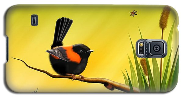 Galaxy S5 Case featuring the digital art Red Backed Fairy Wren by John Wills
