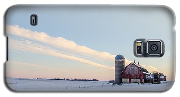 Galaxy S5 Case featuring the photograph Red Barn by Dan Traun