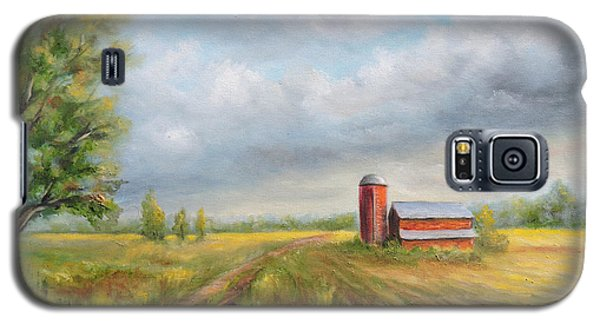 Red Barn In Spring Galaxy S5 Case