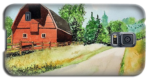 Red Barn Near Steamboat Springs Galaxy S5 Case by Tom Riggs