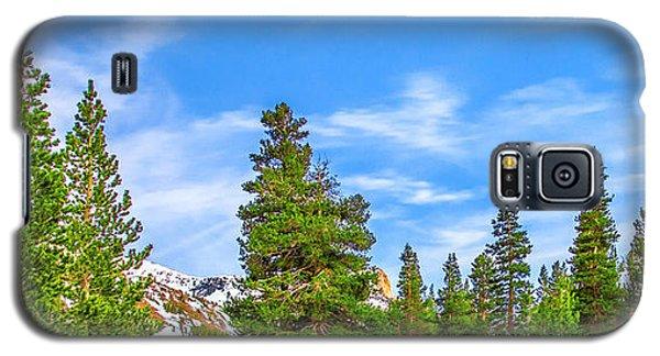 Yosemite National Park Galaxy S5 Case - Red Barn On A Hill by Az Jackson