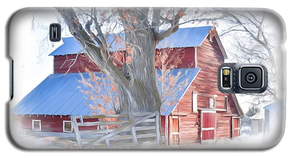 Red Barn On York Drive Galaxy S5 Case