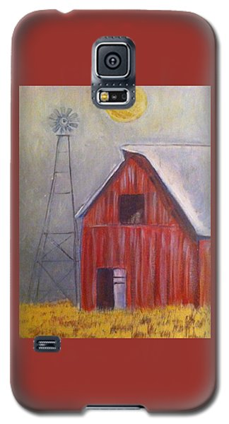 Red Barn With Windmill Galaxy S5 Case