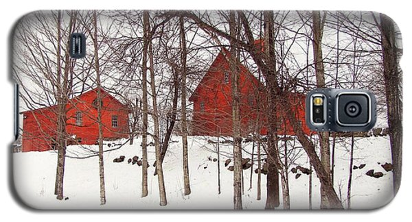 Red Barns Galaxy S5 Case by Betsy Zimmerli