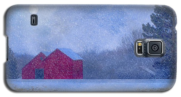Red Barns In The Moonlight Galaxy S5 Case