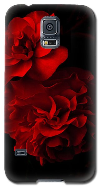 Galaxy S5 Case featuring the pyrography Red Begonia by Lynn Hughes